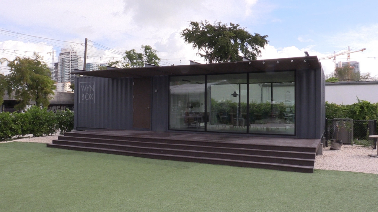 Thinking inside and outside the box shipping containers find new uses in south florida youtube - Container homes florida ...