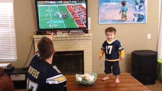 Father son San Diego Charger fans