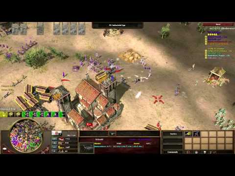 [4v4] AOE3 with Interjection: Crazy Team Game with Twitch viewers, I play Ports!