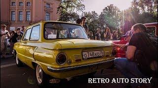 Смотреть видео Старинные автомобили на выставке ретро авто в Санкт - Петербурге на день города 2018 / Clan Masikow онлайн
