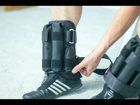Утяжелители для ног с регулируемым весом