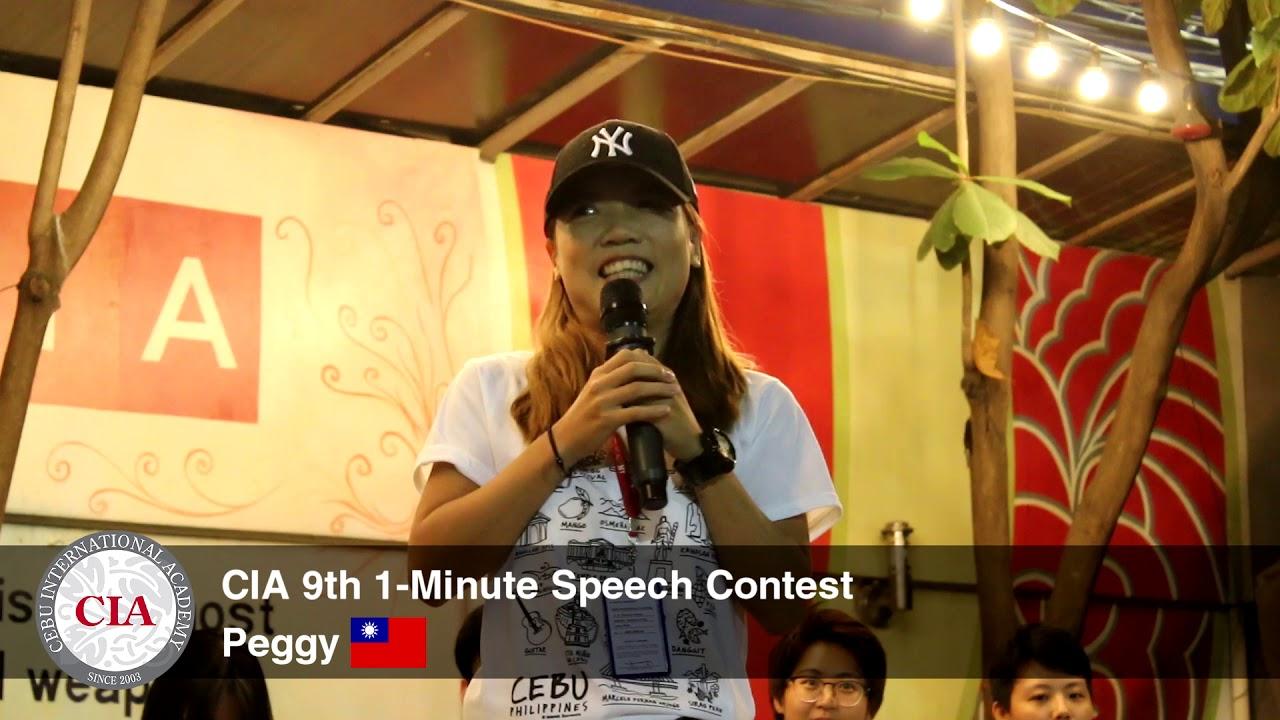(English School in Cebu, Philippines) Cebu International Academy - 9th  1-Minute Speech (Peggy)