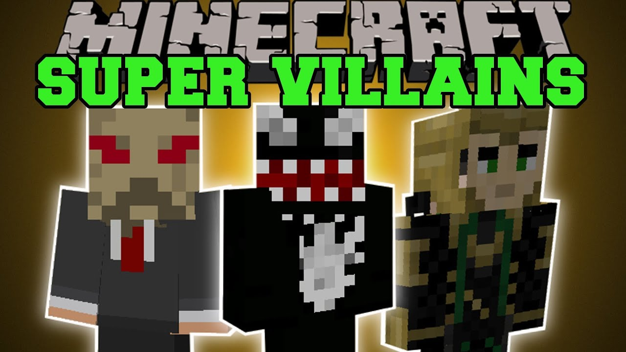 Minecraft super villains play as evil villains with epic powers mod showcase