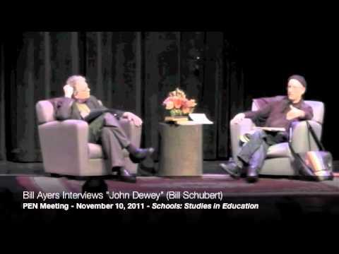 """Bill Ayers interviews """"John Dewey"""" (Bill Shubert) at the 2011 PEN Meeting, part 4/9"""
