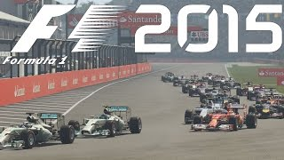 Lets Play F1 2015 (2014 Saison) Hockenheimring, Deutschland GP German Gameplay Deutsch [Fanatec CSW]