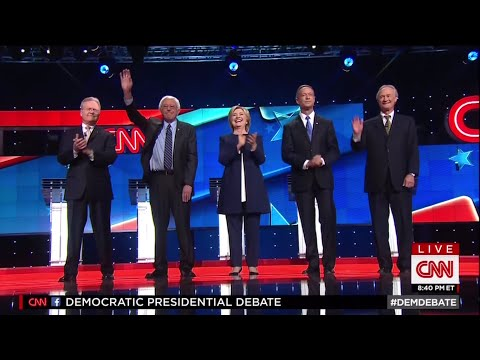 First Democratic Primary Debate - October 13 2015 on CNN