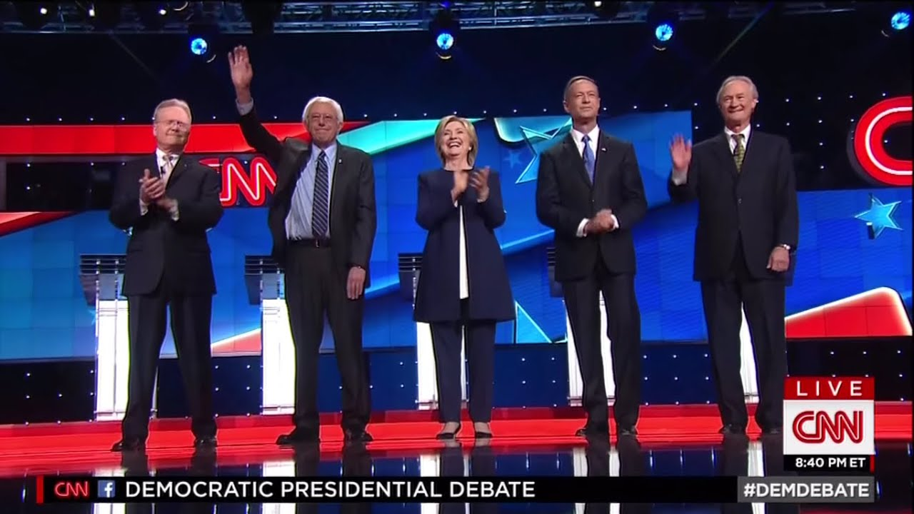 first democratic primary debate october 13 2015 on cnn youtube