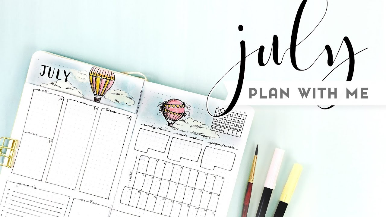 PLAN WITH ME | JULY Bullet Journal
