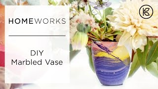 How To Make Marbled Flower Pots | Kin Community