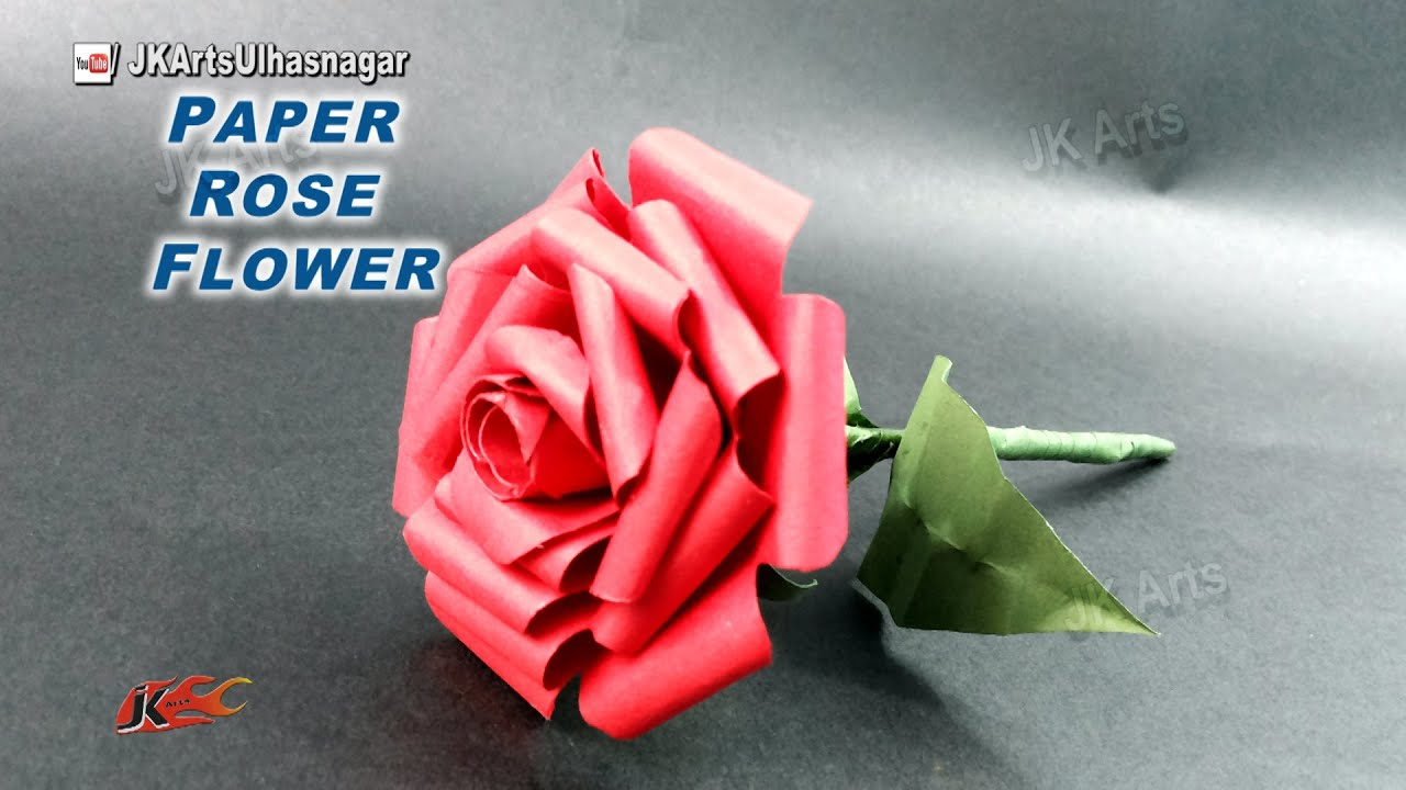 Diy how to make paper rose flower valentine 39 s day gift for Buying roses on valentines day