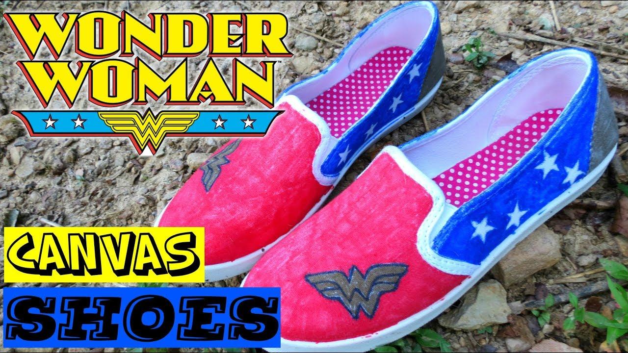 15cc1f883c35 DIY WONDER WOMAN SHOES - YouTube