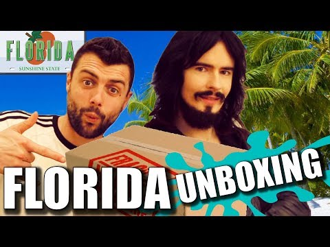 Irish People UnBoxing 'FLORIDA' Care Package!!