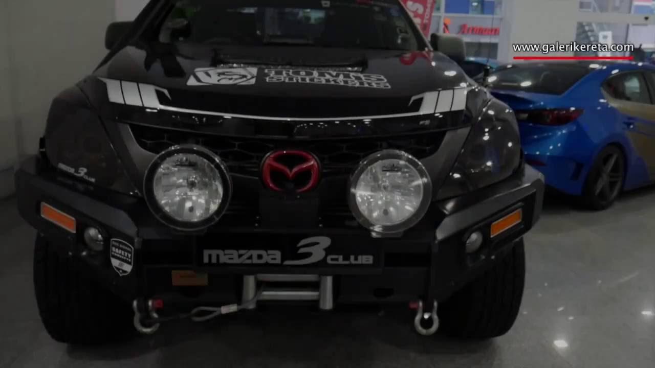 Mazda Bt 50 >> Mazda BT 50 Modified Custom Matte Green | Galeri Kereta ...