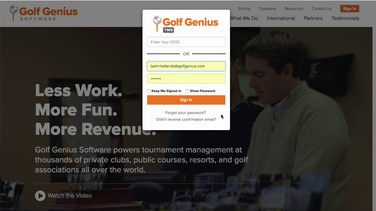 Golfgenius - START HERE for Golf Genius Customers