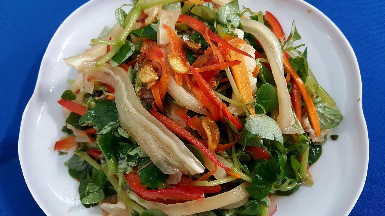 Cách làm RAU CÀNG CUA BÓP GIẤM VỚI TAI HEO ngon giòn - Hồng Thanh Food
