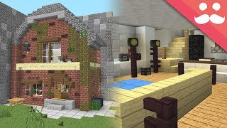 Transform my REAL LIFE HOUSE in Minecraft!