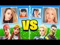 FaZe Jarvis & DREAM GIRL VS FaZe Kay & Girlfriend (Fortnite 1v1)