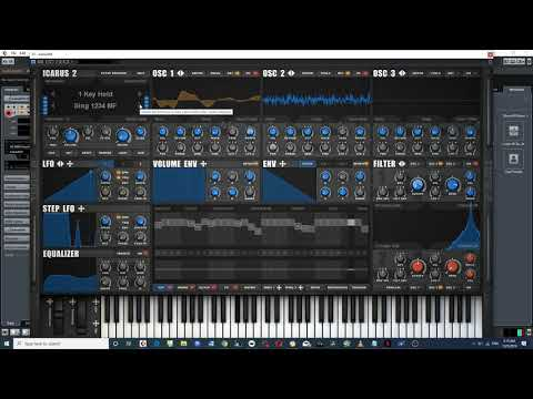 Tone2 Icarus 2.0 is here!!! Going through the patches in the 1 Key Hold and the Drumloop categories
