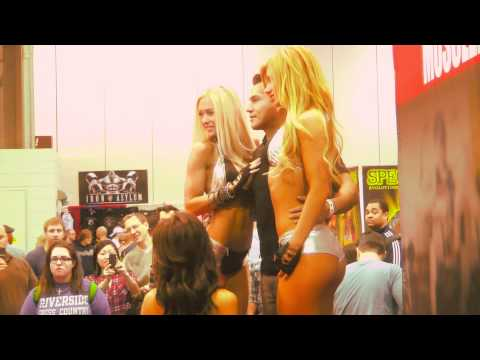 WBFF Bikini Diva  Jenna  Webb at the Musclemag Booth