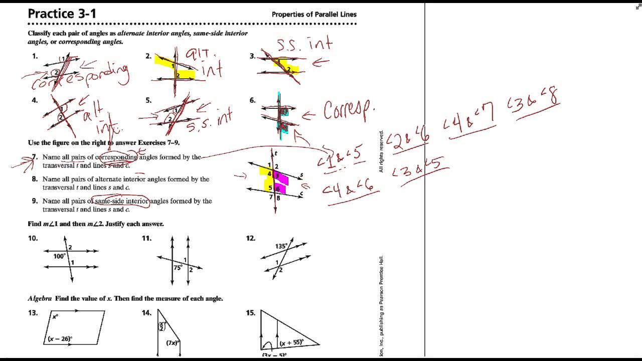 worksheet Proving Lines Parallel Worksheet geometry 3 proving lines parallel worksheet 2 properties of kids