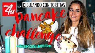 PANCAKE ART CHALLENGE: dibujando con tortitas   Con Sylvia Salas