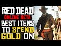 BUY THESE ITEMS BEFORE WASTING YOUR GOLD | RDR2 Online Best Things To Buy With Your FREE GOLD!