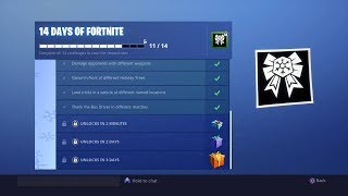 Fortnite Unlocking day 11 Gift Of 14 Days Of Fortnite