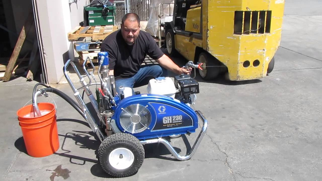Graco GH230 Convertible Gas Hydraulic Paint Sprayer Honda ...