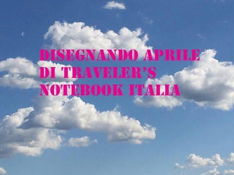 Disegnando aprile di traveler's notebook italia giorni 5 6 7 8