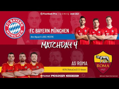 FC Bayern München vs. AS Roma | Highlights Matchday 4 eFootball.Pro IQONIQ 2020-2021