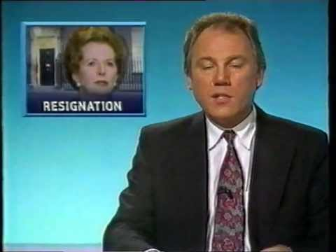 Thatcher Resigns - Six O'clock News 22.11.1990