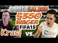 EPIC FIFA 15 WAGER MATCH for 350$ vs Krasi / How to play like a PRO / Best FIFA 15 Gameplay