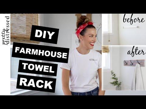 Farmhouse Towel Rack | Farmhouse Decor DIY