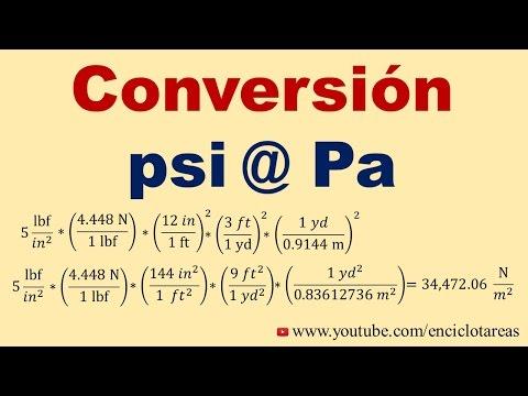 Convertir de psi a Pascal (psi a Pa)