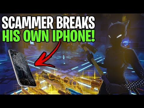 Scammer Breaks His iPhone After Losing His Whole Inventory! In Fortnite Save The World