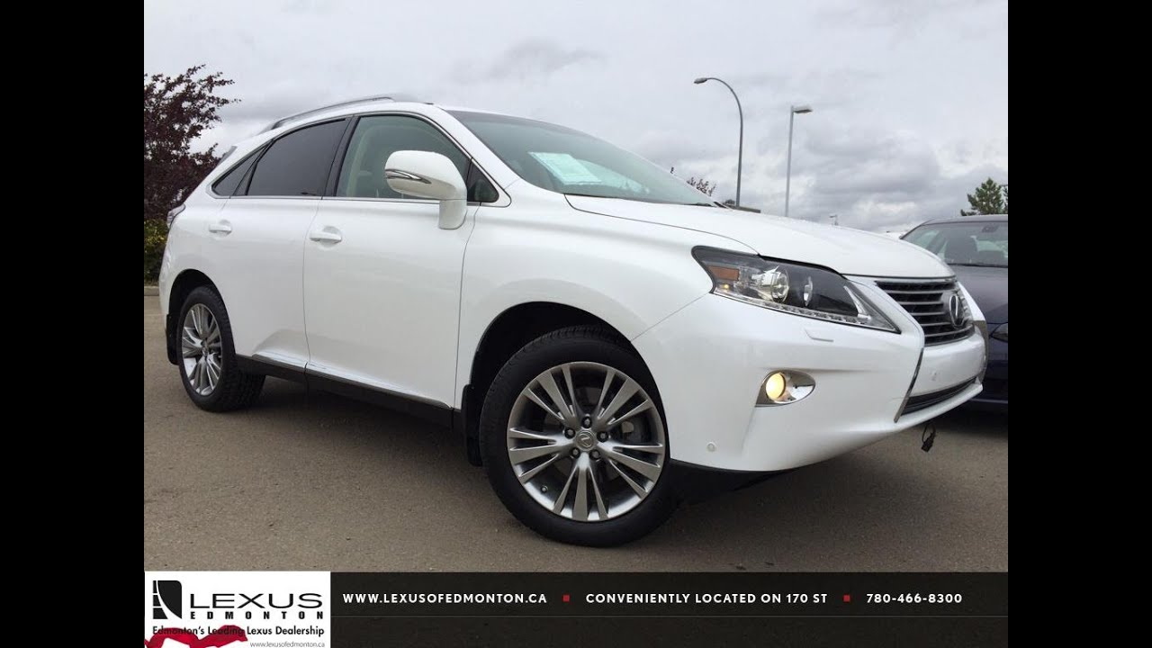 lexus certified pre owned white 2013 rx 350 awd ultra premium package 1 review penhold alberta. Black Bedroom Furniture Sets. Home Design Ideas