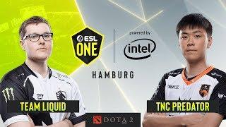 Dota2 - Team Liquid vs. TNC Predator - Game 1 - Group B - ESL One Hamburg 2019