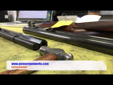 How to remove the end cap from an 1866/1873 lever action rifle.