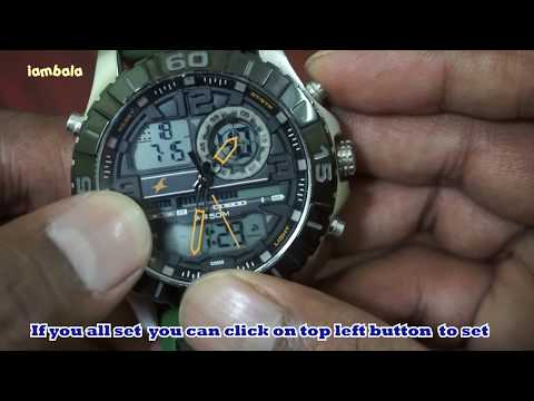 How to set time/week/month/year in Fastrack Sports watch - 38035SP01J
