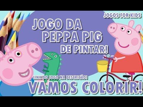 Jogo De Pintar Da Peppa Pig Youtube