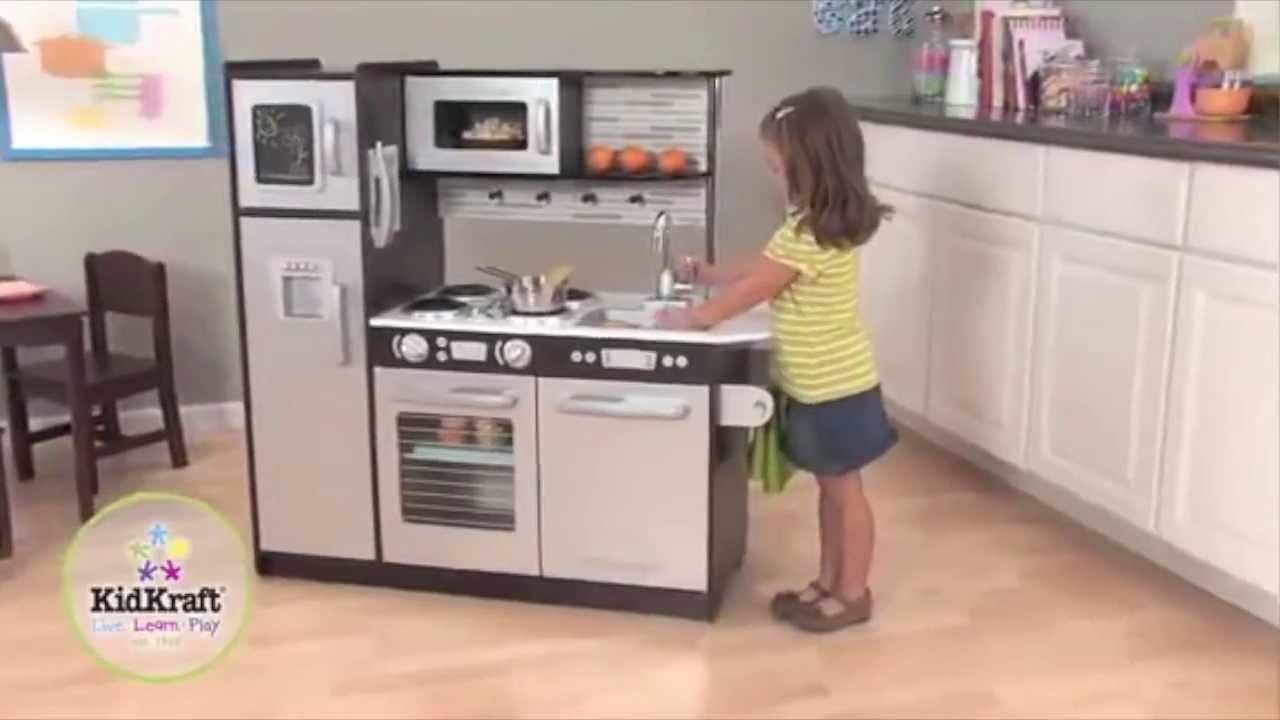 KidKraft Uptown Espresso Wooden Play Kitchen | 53260 - YouTube