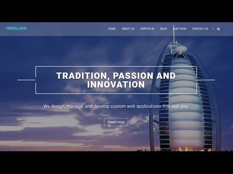 How To Make A Parallax WordPress Website 2017   Responsive One Page Website