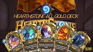 [Hearthstone] All Gold Deck Showcase [Druid vs Priest]