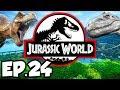 Jurassic World: Evolution Ep.24 - BRACHIOSAURUS DINOSAURS, T-REX PHOTO, MONORAIL (Gameplay Lets Play