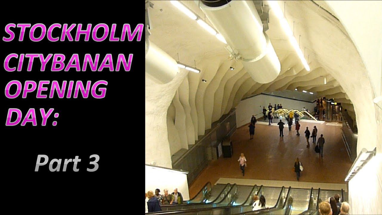 Stockholm Citybanan Opening Day Part 3: A look at the stations