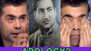 WAS IT KARAN JOHAR APOLOGY FOR COMMENTING ON RAFI SAHAB? thumbnail