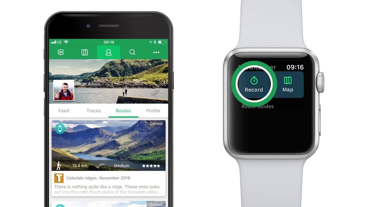 ViewRanger app tutorial: how to use ViewRanger on Apple Watch