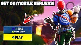 How To Get On *MOBILE SERVERS* In Fortnite Season 9! (works on console AND PC!)
