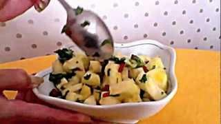 Жгучий салат из ананаса