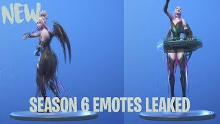 *NEW* LEAKED SEASON 6 FORTNITE EMOTES (Running Man, Drop The Bass, Its Go Time)